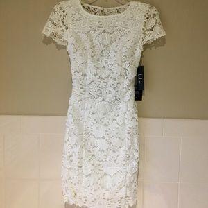 Backless Ivory Lace Dress